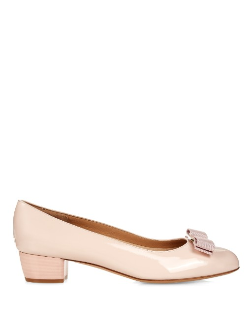 Vara I Patent-Leather Courts, Light-Pink