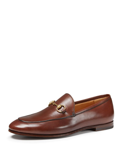 10Mm Brixton Horse Bit Leather Loafers, Brown, Cocoa
