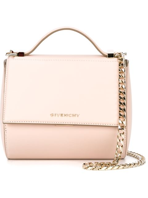 Pandora Mini Textured-Leather Shoulder Bag in Pink