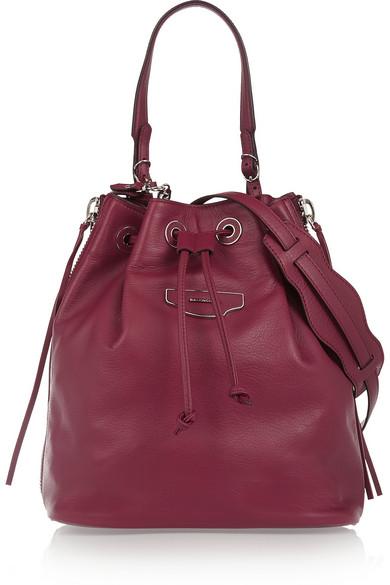 BALENCIAGA. Papier Plate Leather Cross-Body Bucket Bag ... 78508b9e15d2e