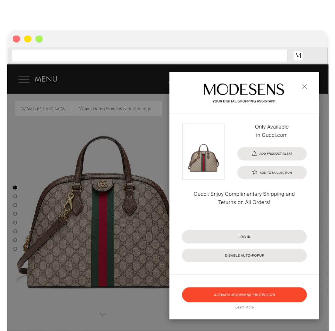 ModeSens Shopping Assistant