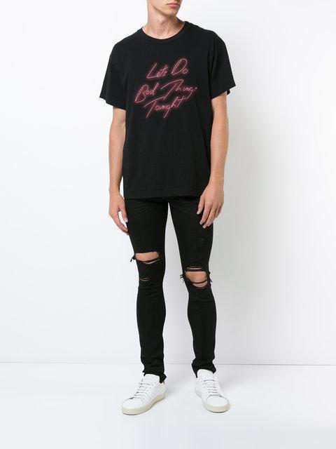 "AMIRI ""Let'S Do Bad Things Tonight"" Cotton T-Shirt, Black"