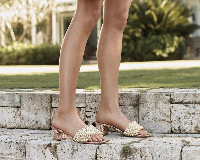 Tory Burch Tatiana Embellished Slide Sandals Cheap Sale Cheapest Discount 2018 New mJxVK