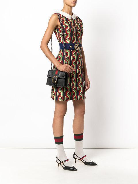 GUCCI Dionysus Mini Textured-Leather Shoulder Bag