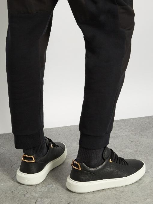 BUSCEMI Men'S 50Mm Leather Low-Top Sneakers, Ocean