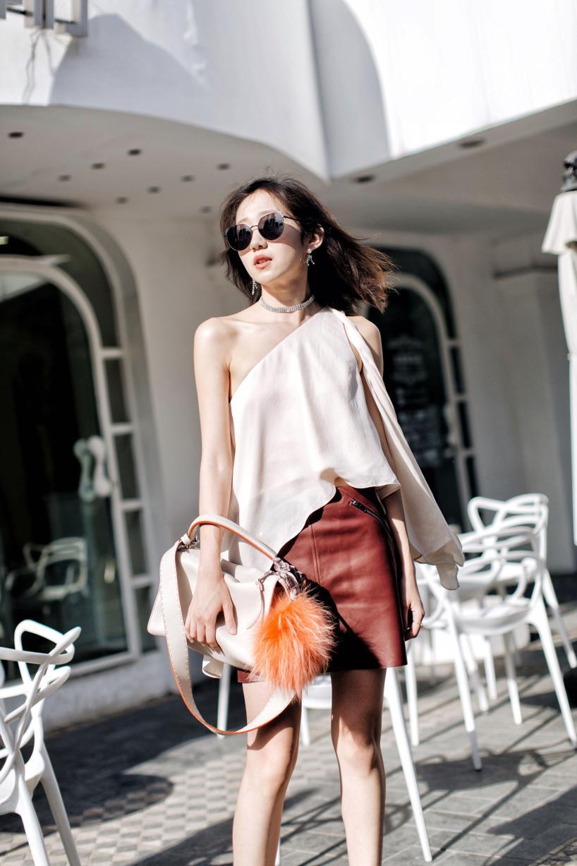 FENDI Lei Selleria Leather Bag