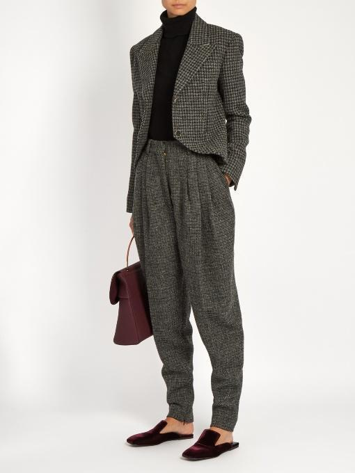 HILLIER BARTLEY Hound'S-Tooth Checked Wool Jacket, Grey Multi