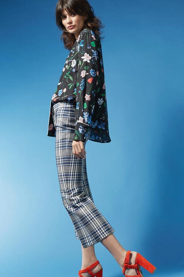 ALEXANDER MCQUEEN Virgin Wool Pants With Plaid Print, Multicolored
