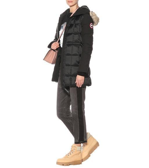 CANADA GOOSE Beechwood Fur-Trimmed Down-Quilted Parka, Black