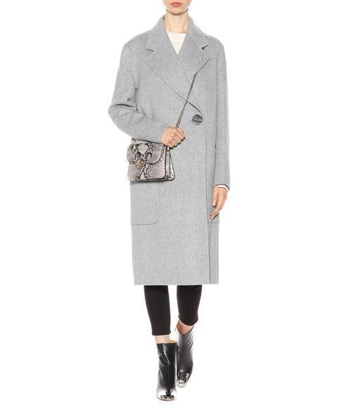 ACNE STUDIOS 'Lova' Belted Long Wool-Cashmere Felt Coat, Female