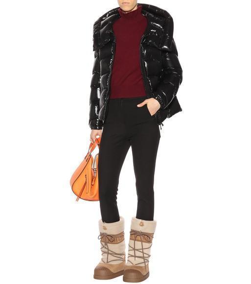 MONCLER Anthia Hooded Wave Puffer Jacket, Black