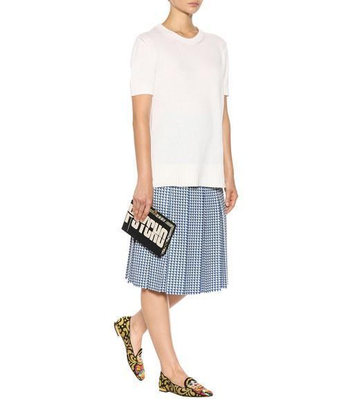 OLYMPIA LE-TAN Psycho Embroidered Canvas Clutch