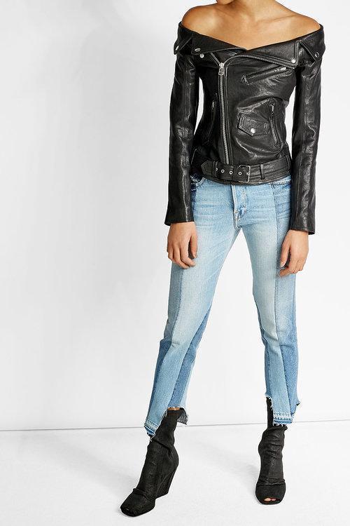 FRAME Patchwork Jeans, Blue
