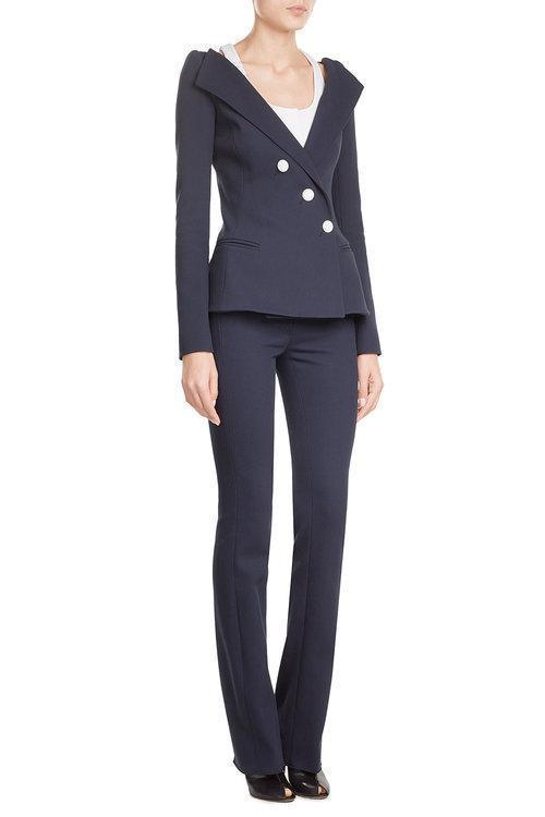 MUGLER Cotton Twill Pants, Blue