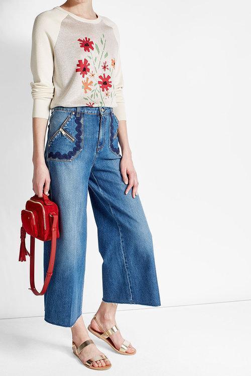SONIA RYKIEL Wide-Legged Cropped Jeans, Blue