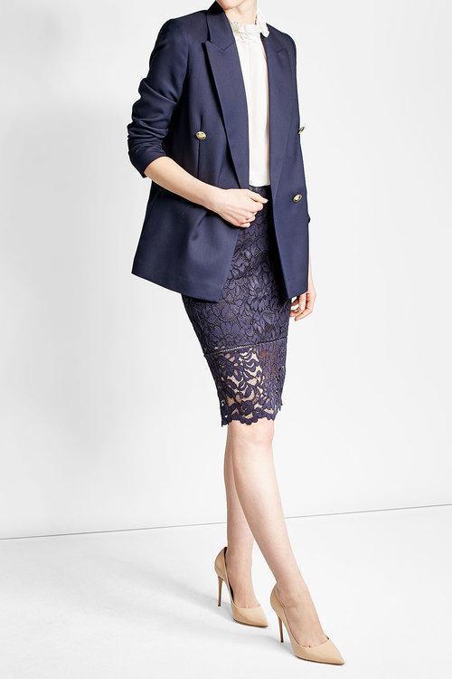 VICTORIA BECKHAM Wool Blazer, Blue