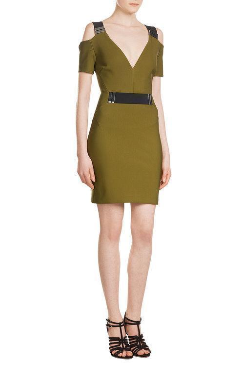 MUGLER Dress With Cut-Out Shoulders, Green