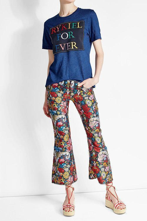SONIA RYKIEL Embroidered Cotton T-Shirt