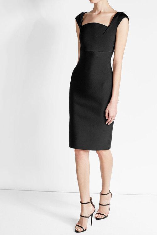 ROLAND MOURET Holmann Crepe Dress, Black