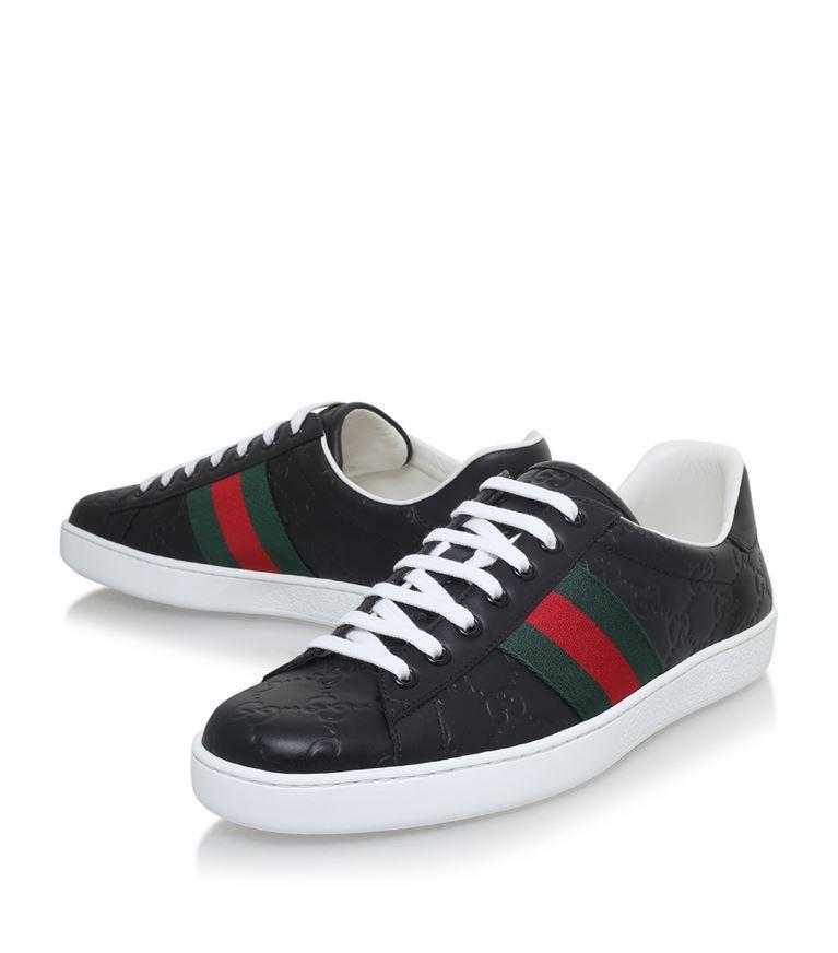 GUCCI Logo Rubber Slide Sandals - Black Size 11 M