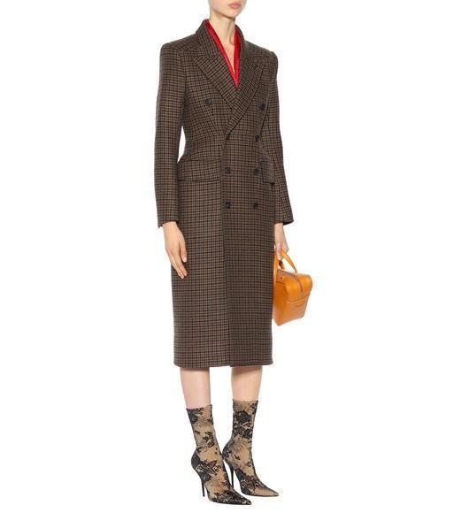 Wool-blend houndstooth skirt Balenciaga Free Shipping Sale GQvmdwkb