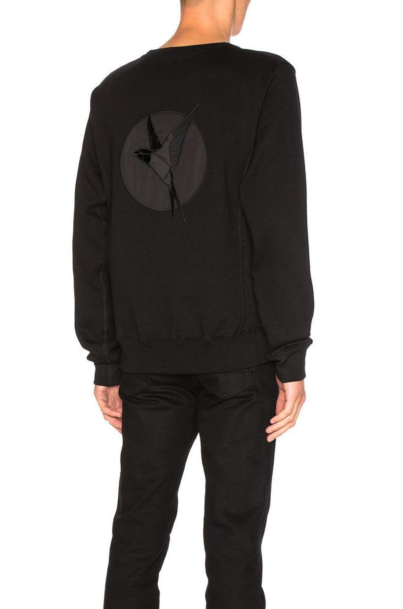 STELLA MCCARTNEY Embroidered Bird Sweatshirt, Black