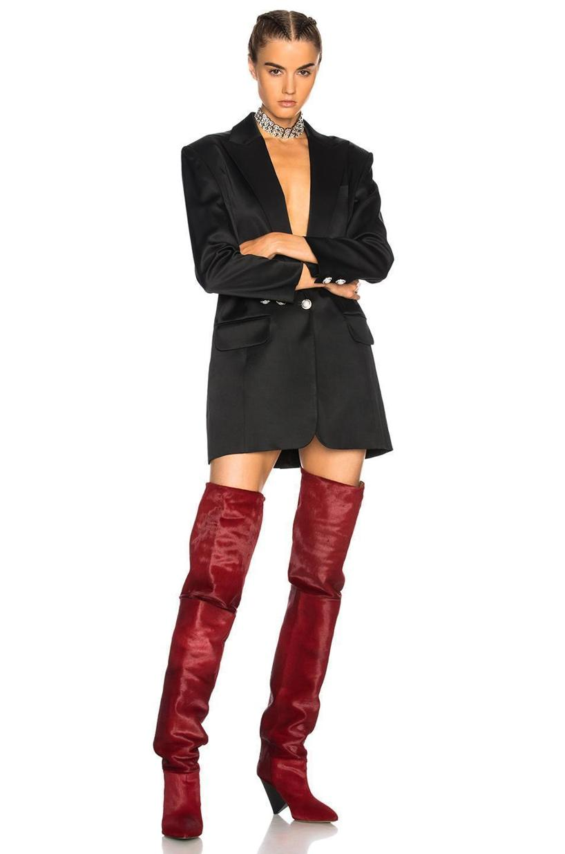 bedf297c238 ISABEL MARANT CALF HAIR LOSTYNN THIGH HIGH BOOTS