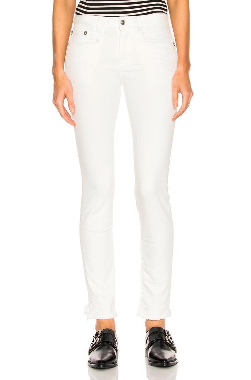 R13 Alison Skinny Jeans, Garret White