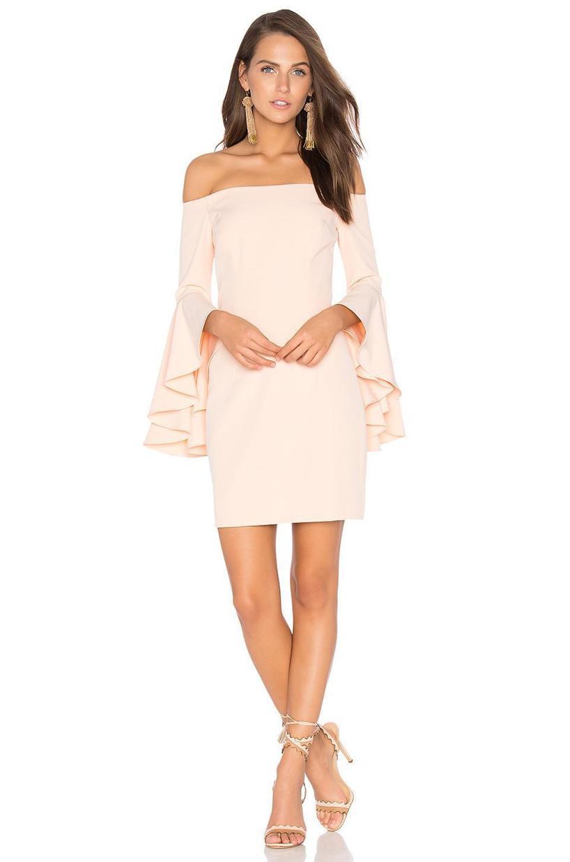 MILLY Selena Mini Dress, Peach