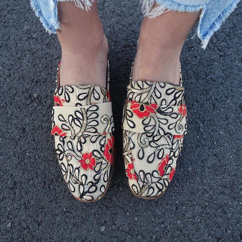 FREE PEOPLE Free People At Ease Brocade Loafers