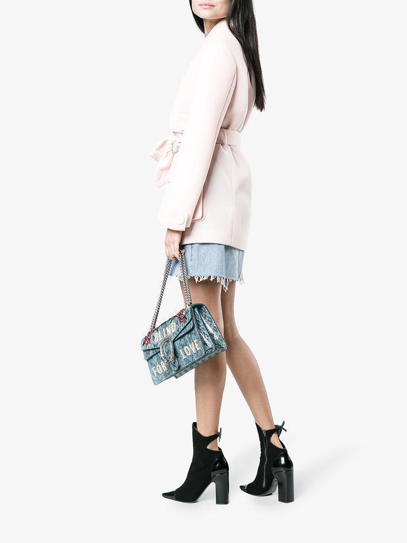 SIMONE ROCHA Pink Scuba Belted Trench Coat
