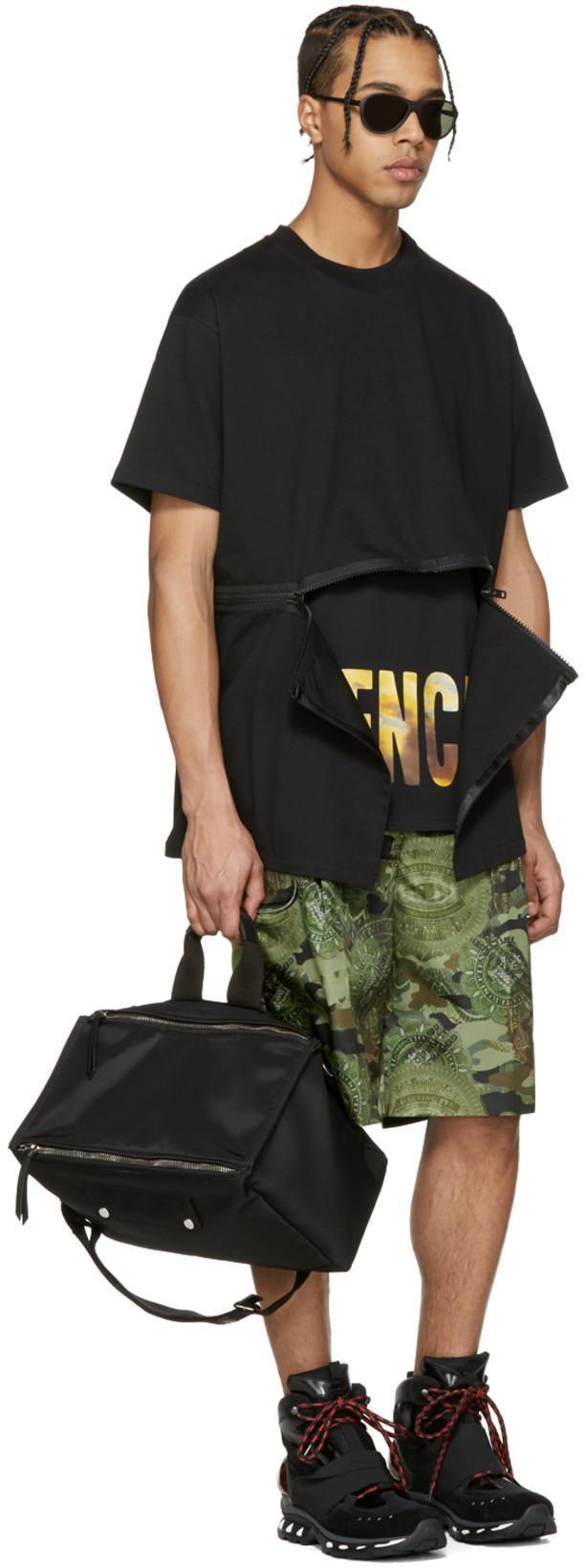 GIVENCHY Camouflage Printed Bermuda Shorts, Khaki