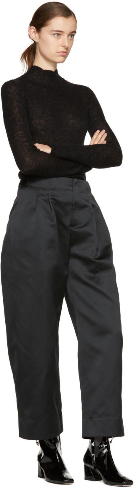 DORATEYMUR Nizip Silver Piercing Patent Leather Booties, Black
