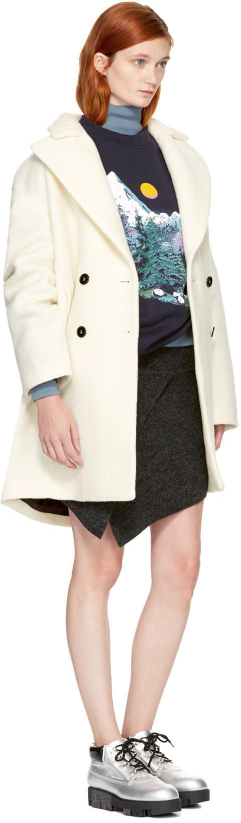 CARVEN Double-Breasted Cocoon Coat