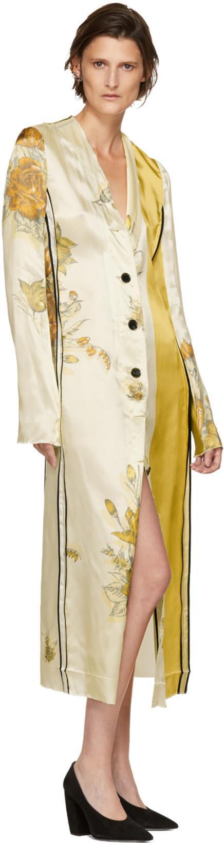 Vallens raw-edge floral-print dress Kwaidan Editions E49TzqpNm