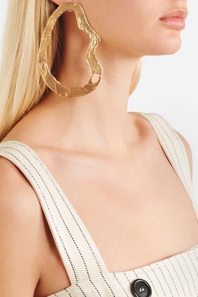 ALTUZARRA Audrey Pinstripe Apron-Front Belted Midi Dress W/ Button Trim, Ivory