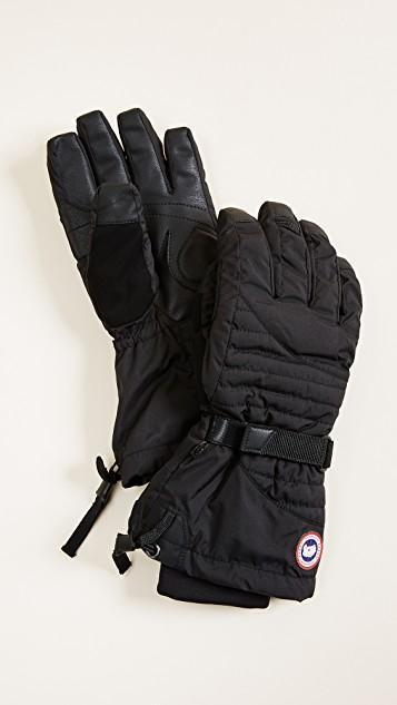 CANADA GOOSE 'Arctic' Waterproof Down Gloves (Women), Black