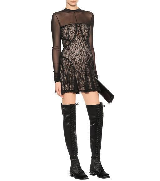 3dc4d0c9642 NICHOLAS KIRKWOOD Casati Embellished Stretch-Satin Over-The-Knee Boots in  Unavailable
