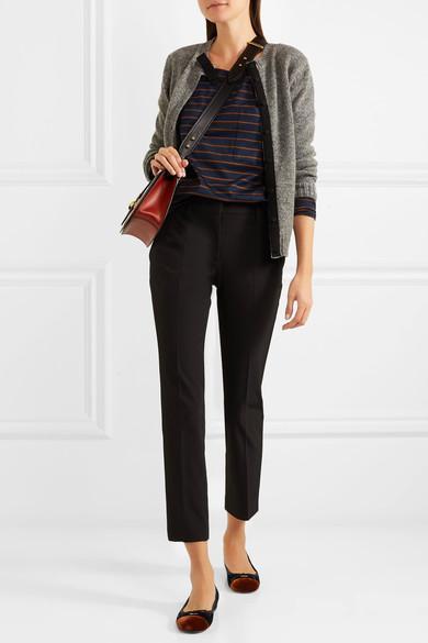 PRADA Belted Wool Cardigan, Grey