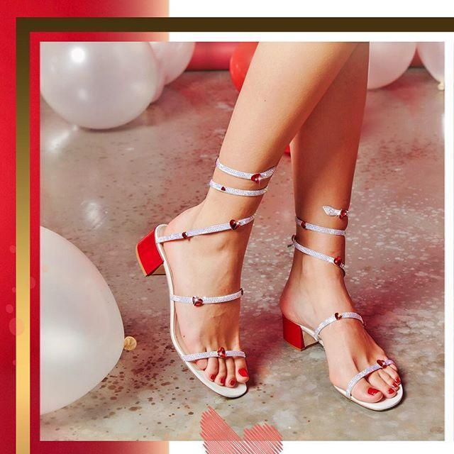 RENé CAOVILLA Heart embellished sandals zCifF8O