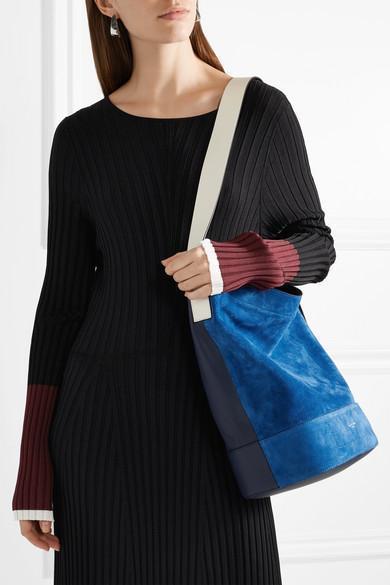 Walker Sling Suede And Leather Bucket Bag - Blue Rag & Bone JPTvDLp