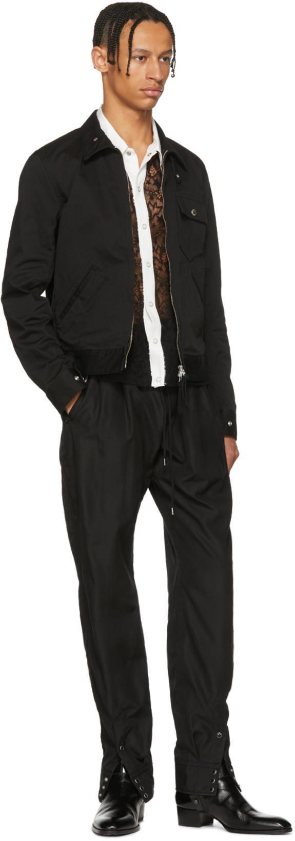 TAKAHIROMIYASHITA THE SOLOIST Takahiromiyashita Thesoloist. Black Fringe Sleeve Shirt in 1 Black