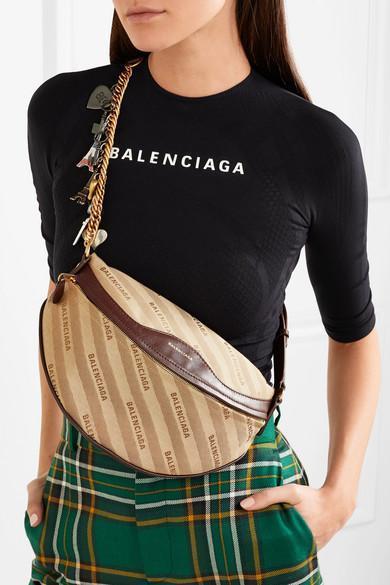 BALENCIAGA Convertible Paneled Tartan And Houndstooth Wool Straight-Leg Pants in Green