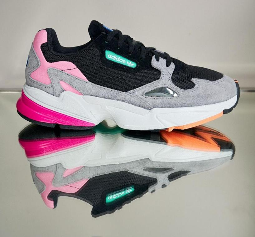 In Up Sneakers Falcon Women's Block Adidas Lace Color Originals TpBqZw8Z