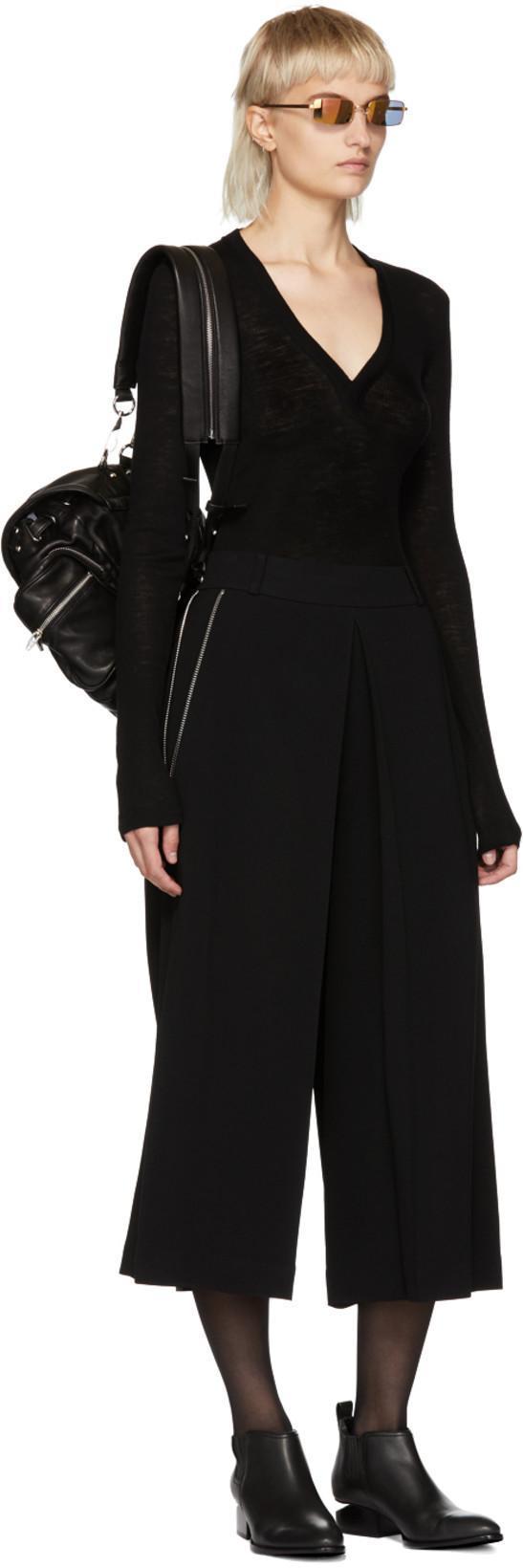 ALEXANDER WANG Metal-Inset Kori Boots - Black Size 10.5