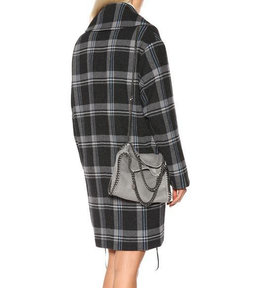 STELLA MCCARTNEY Small Falabella Shaggy Deer Shoulder Bag in Grey