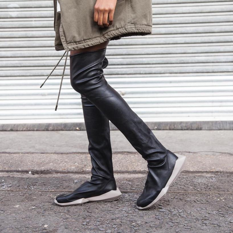 Sale Supply Rick Owens x Adidas Leather Over-The-Knee Boots Cheap Largest Supplier Hurry Up 100% Original RW6uYJas8w