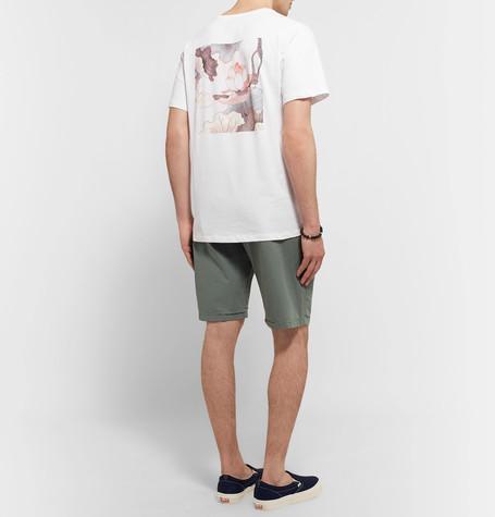 SATURDAYS SURF NYC Lotus Flower Printed Cotton-Jersey T-Shirt