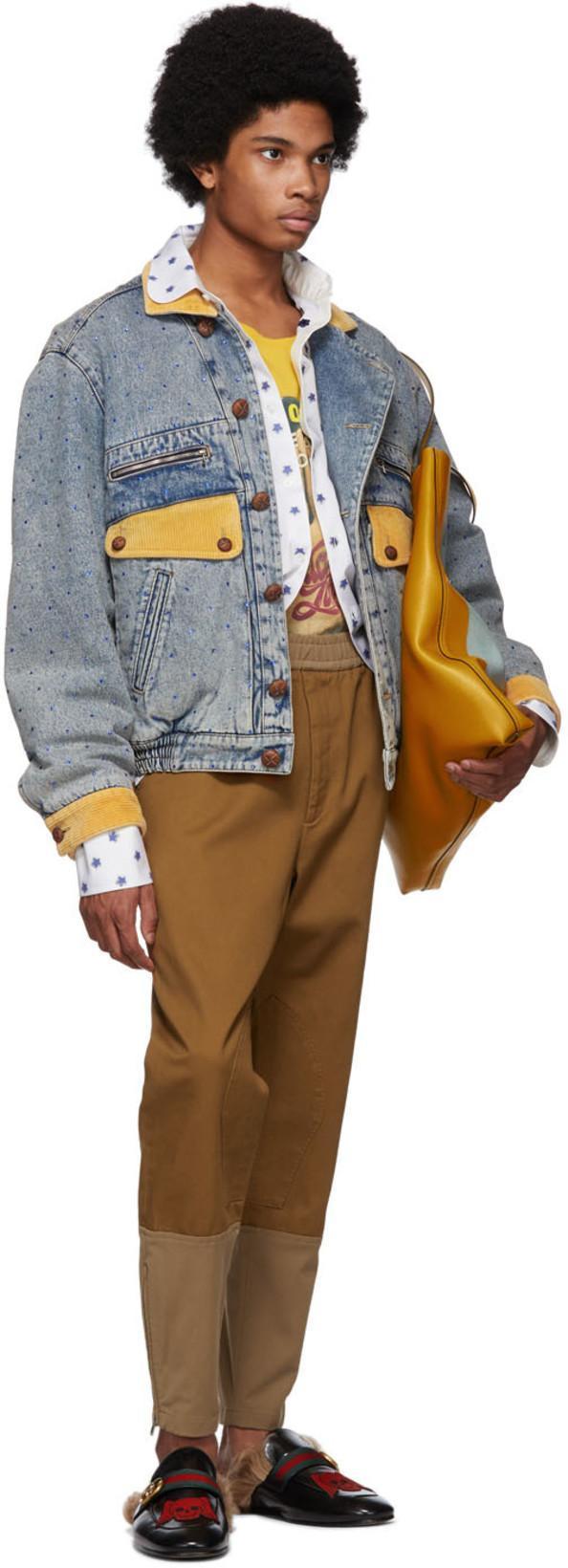 c1ff7d25f Gucci Blue Denim Rhinestone Jacket In 4617Ltbluem | ModeSens