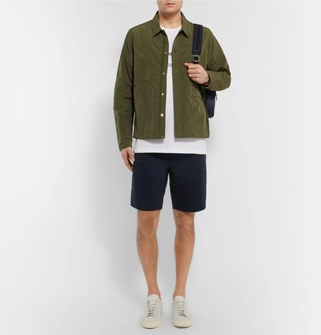 RAG & BONE Standard Issue Cotton-Twill Shorts, Navy